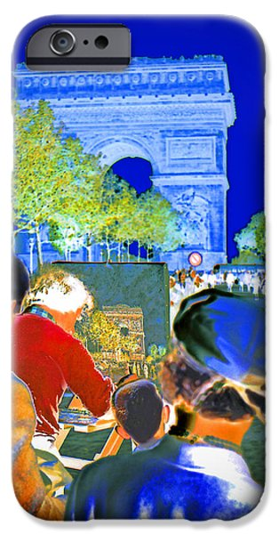Painter Photographs iPhone Cases - Parisian Artist iPhone Case by Chuck Staley