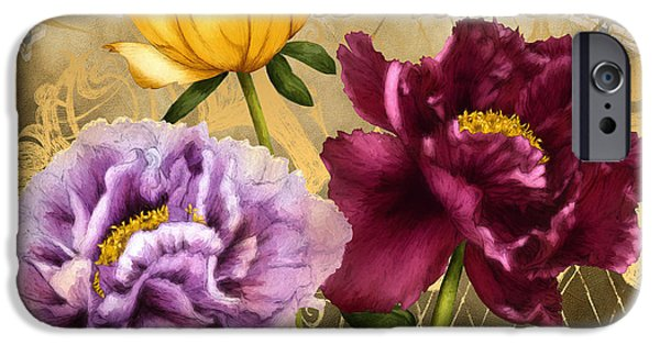 Filigree iPhone Cases - Parisian Peonies iPhone Case by April Moen