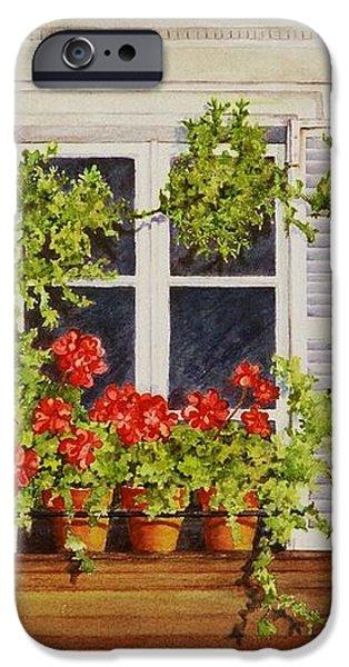 Parisian Window iPhone Case by Mary Ellen  Mueller Legault