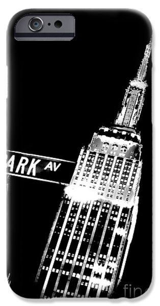 Repetition iPhone Cases - Park Avenue iPhone Case by Az Jackson