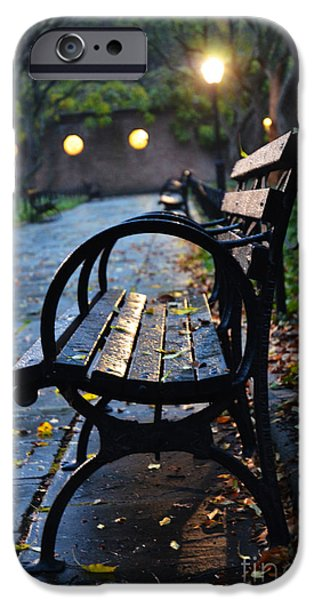 Buying Online Digital iPhone Cases - Central Park Park Bench at Midnight iPhone Case by Anahi DeCanio