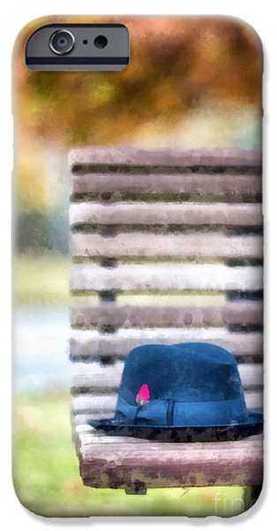 Park Benches iPhone Cases - Park Bench iPhone Case by Edward Fielding