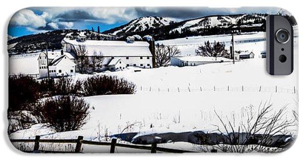 Snow Scene iPhone Cases - Park City Winter Landscape iPhone Case by La Rae  Roberts