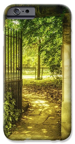 Pathway iPhone Cases - Park Entrance iPhone Case by Nomad Art And  Design