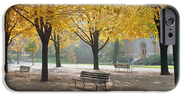 Pathway iPhone Cases - Park Geneve, Switzerland iPhone Case by Panoramic Images