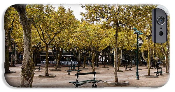 iPhone Cases - Park in Saint Tropez iPhone Case by Gyorgy Kotorman