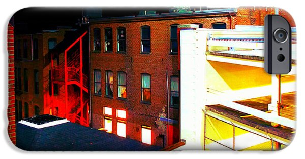 Buildings Mixed Media iPhone Cases - Parking Garage 2 iPhone Case by Andrew Dimmitt
