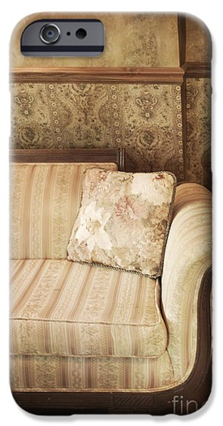 Interior Still Life iPhone Cases - Parlor Seat iPhone Case by Margie Hurwich
