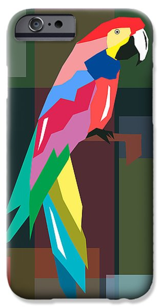 Surrealism Digital Art iPhone Cases - Parrot iPhone Case by Mark Ashkenazi