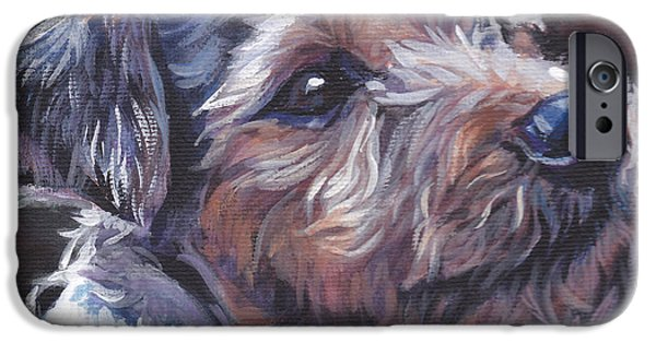 Jack Russell iPhone Cases - Parson Russell Terrier iPhone Case by Lee Ann Shepard