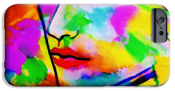 Figure iPhone Cases - Part of the silence iPhone Case by Helena Wierzbicki