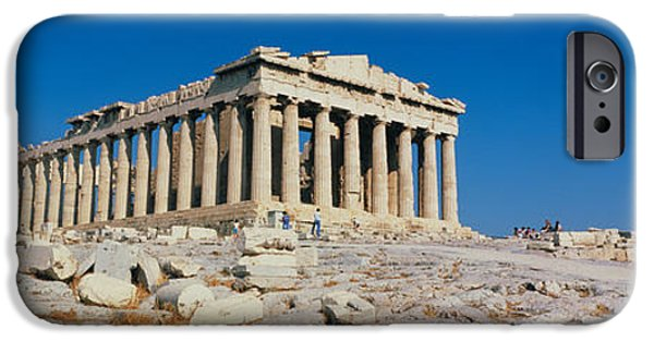 Reconstruction iPhone Cases - Parthenon Athens Greece iPhone Case by Panoramic Images