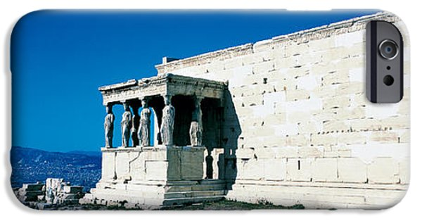 Nike Photographs iPhone Cases - Parthenon Complex Athens Greece iPhone Case by Panoramic Images