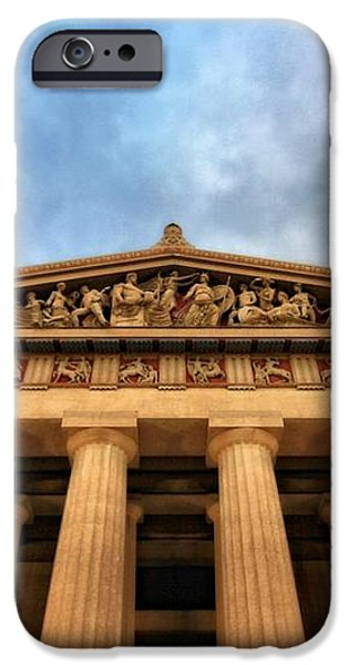 Parthenon From Below iPhone Case by Dan Sproul