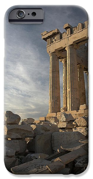 Athens Ruins iPhone Cases - Parthenon from the South iPhone Case by Ellen Henneke
