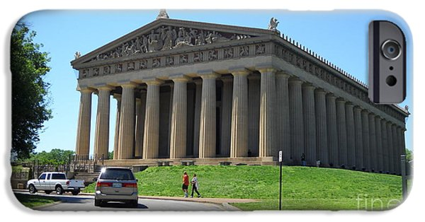 Historic Franklin Tennessee iPhone Cases - Parthenon in Nashville iPhone Case by Paula Talbert