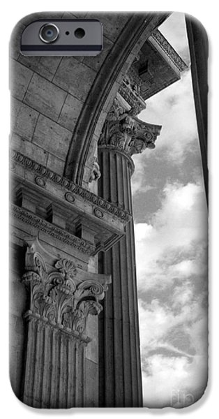 Jennifer Apffel iPhone Cases - Cornices and Columns iPhone Case by Jennifer Apffel