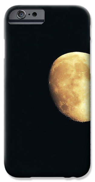 Partial moon iPhone Case by Claudia Mottram