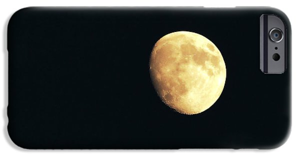 Components iPhone Cases - Partial moon iPhone Case by Claudia Mottram