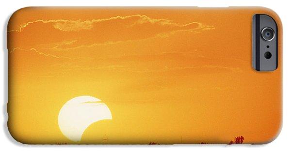 Solar Eclipse iPhone Cases - Partial Solar Eclipse iPhone Case by William H. Mullins