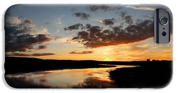 Central Massachusetts iPhone Cases - Partly Cloudy iPhone Case by David Pratt