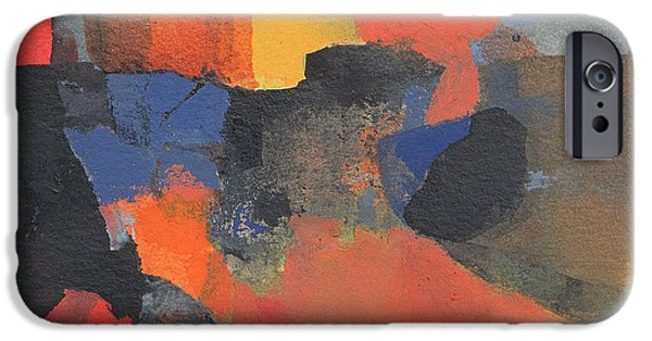 Abstracts iPhone Cases - Partly Then, Partly Now Wc On Paper iPhone Case by Kate Dicker