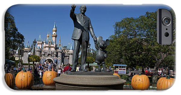 Jason O. Watson iPhone Cases - Partners Statue Disneyland Halloween iPhone Case by Jason O Watson
