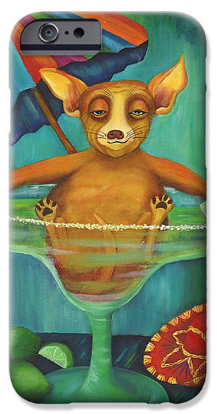 Chiwawa iPhone Cases - Party Animal  Ay Chihuahua iPhone Case by Debbie McCulley
