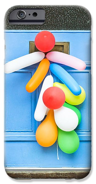 Red Balloons iPhone Cases - Party balloons iPhone Case by Tom Gowanlock