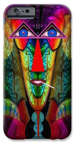 Strange iPhone Cases - 059 - Party for one  iPhone Case by Irmgard Schoendorf Welch