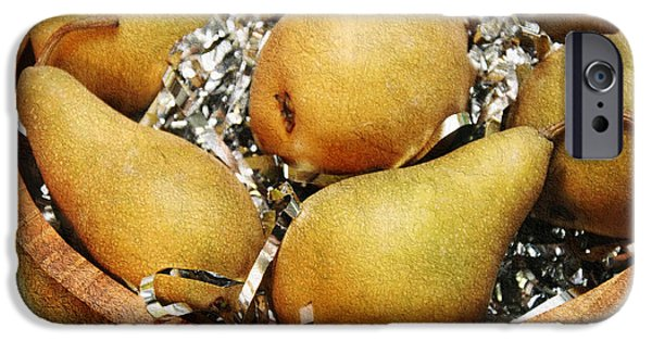 Pears Mixed Media iPhone Cases - Party Pears iPhone Case by Andee Design