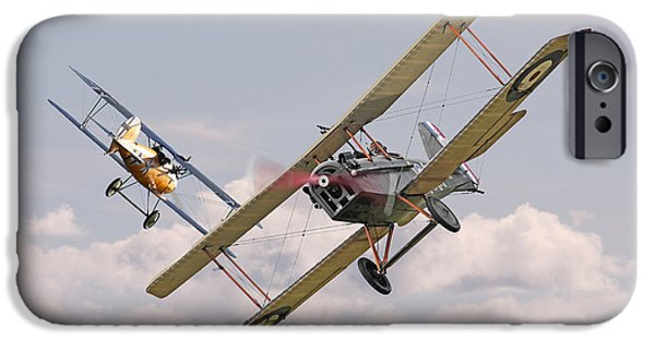 Fokker D V11 iPhone Cases - Passage of Arms iPhone Case by Pat Speirs