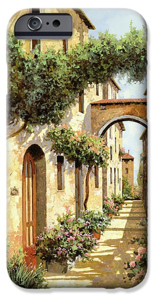Vase iPhone Cases - Passando Sotto Larco iPhone Case by Guido Borelli
