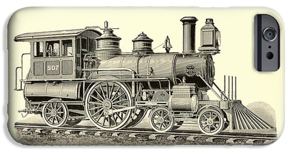 Antiques iPhone Cases - Passenger Locomotive iPhone Case by Gary Grayson