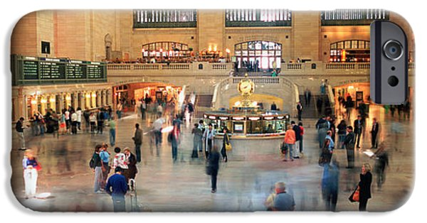 Interior Scene iPhone Cases - Passengers At A Railroad Station, Grand iPhone Case by Panoramic Images