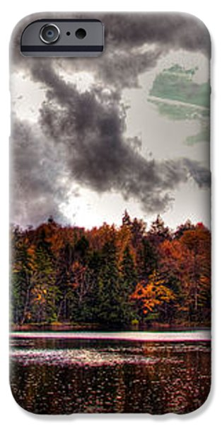 Passing Storm over Cary Lake iPhone Case by David Patterson