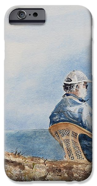 PASSING TIME iPhone Case by Monte Toon