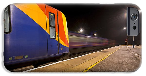444 iPhone Cases - Passing Trains in the Night  iPhone Case by Rob Hawkins