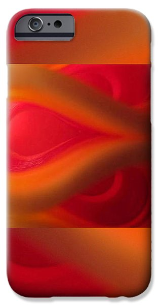 Passion Abstract 02 iPhone Case by Ausra Paulauskaite