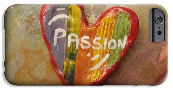 Multimedia Paintings iPhone Cases - Passion iPhone Case by Evelyn Ballin