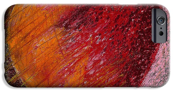 Abstract Expressionism Photographs iPhone Cases - Passion Heart iPhone Case by David Patterson