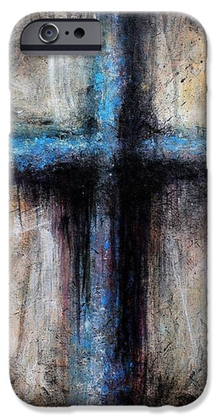 Michael Mixed Media iPhone Cases - Passion of the Cross iPhone Case by Mike Grubb