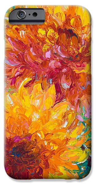 Sun Paintings iPhone Cases - Passion iPhone Case by Talya Johnson