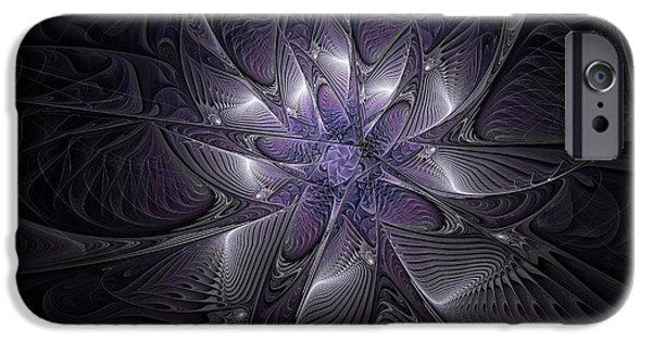 Floral Digital Art Digital Art iPhone Cases - Passionate for Purple iPhone Case by Amanda Moore