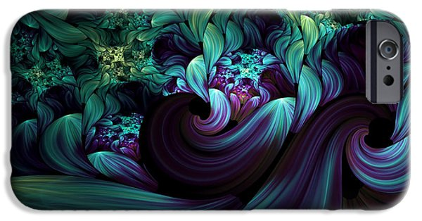 Asymmetrical iPhone Cases - Passionate Mindfulness iPhone Case by Georgiana Romanovna