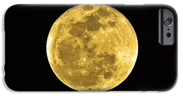 Man In The Moon iPhone Cases - Passover Full Moon iPhone Case by Al Powell Photography USA