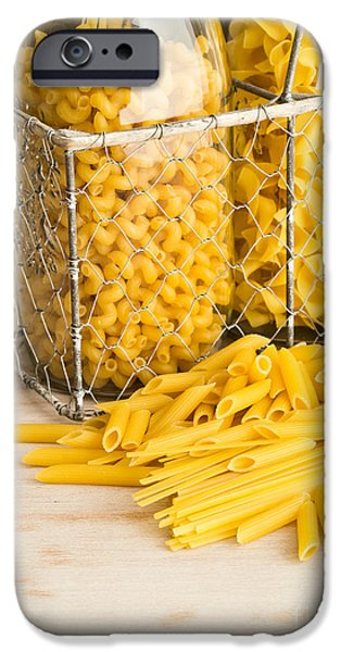 Pasta Shapes Still Life iPhone Case by Edward Fielding