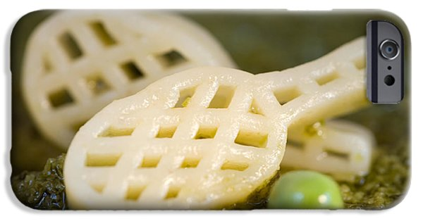 Commercial Photography iPhone Cases - Pasta Tennis Rackets iPhone Case by Iris Richardson