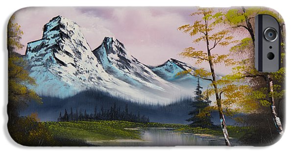 Bob Ross Paintings iPhone Cases - Pastel Fall iPhone Case by C Steele