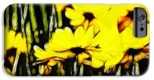 Expressionism Pastels iPhone Cases - Pastel Flowers iPhone Case by Stefan Kuhn